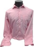 Spykey Formal Shirts (Men's) - Spykey Men's Self Design Formal Pink Shirt