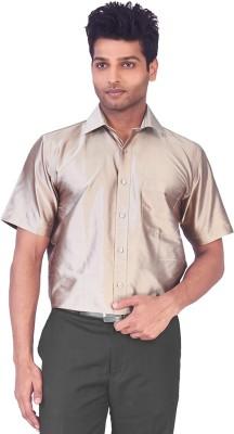 Mark Anderson Men's Solid Casual, Festive, Wedding, Party Grey Shirt