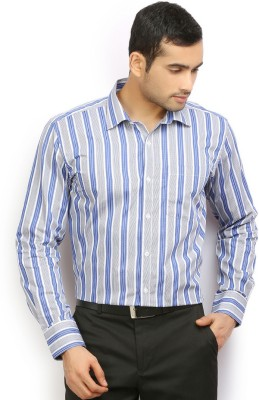Odin Men's Checkered Casual Blue Shirt