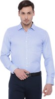 I voc Formal Shirts (Men's) - I-Voc Men's Checkered Formal Blue Shirt