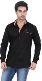 Meraki Men's Solid Casual Black Shirt