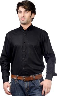Hugo Chavez Men's Solid Formal Black Shirt