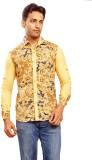 Trinath Men's Self Design Formal Yellow ...