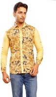 Formal Shirts (Men's) - Trinath Men's Self Design Formal Yellow Shirt
