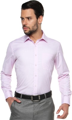 British Club Men's Checkered Formal Purple Shirt