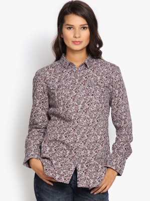 Tokyo Talkies Women's Printed Casual Grey Shirt