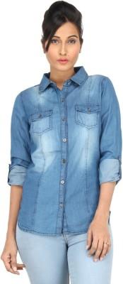 Eimoie Girl's Solid Casual Dark Blue Shirt