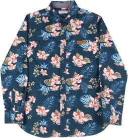 Us Polo Kids Boys Printed Casual Dark Blue Shirt