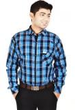 Hd Rascals Men's Checkered Casual Blue S...