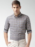 Mast & Harbour Men's Checkered Casual Wh...