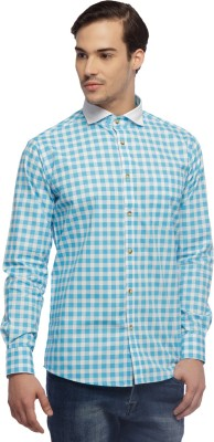 Cuffle Men's Checkered Casual Blue Shirt
