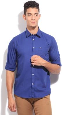 Arrow Sport Men's Solid Casual Blue Shirt
