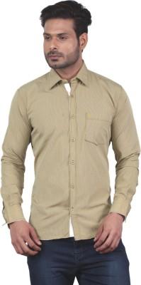 Tabard Men's Checkered Casual Brown Shirt