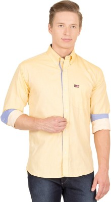 Union Street Men's Solid Casual Yellow Shirt