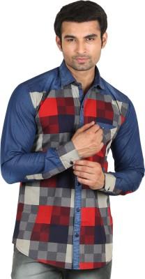 Swiss Culture Men's Checkered Casual Multicolor Shirt
