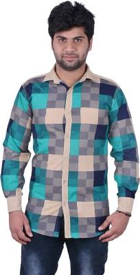 Hometrade India Men's Checkered Casual Reversible Multicolor Shirt