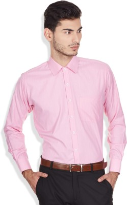 Arihant Men's Solid Formal, Party, Festive Pink Shirt