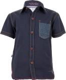 Ice Boys Boys Printed Casual Blue Shirt