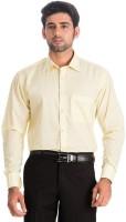 Benzi Formal Shirts (Men's) - Benzi Men's Solid Formal Yellow Shirt