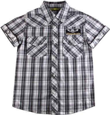 Eves Pret A Porter Boy's Checkered Casual Black, White Shirt