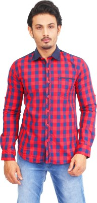 Success Men's Checkered Casual Red Shirt