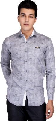 Jhon Poul Men's Solid Casual Black Shirt