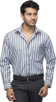 Menmark Men,s Checkered Formal Grey, White Shirt