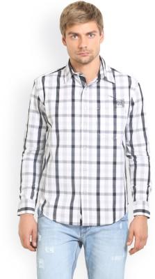HW Men's Checkered Casual Black Shirt