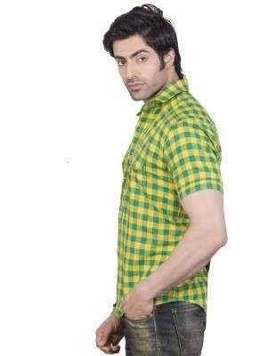 Eden Elliot Men's Checkered Casual Multicolor Shirt