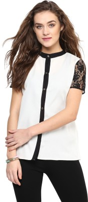 Uptownie Lite Women's Solid Casual White Shirt
