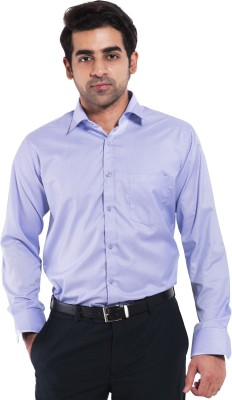 Mild Kleren Men's Self Design Formal Purple Shirt