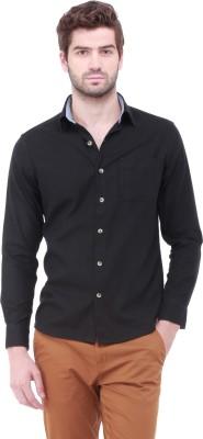 Jogur Men's Solid Casual Black Shirt