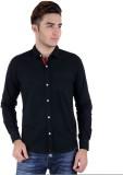 RA Men's Solid Casual Black Shirt