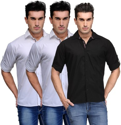 TSX Men's Solid Casual Multicolor Shirt