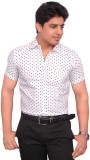 Hometrade India Men's Printed Casual Whi...