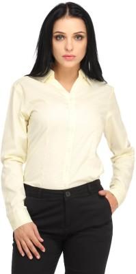 Snoby Women's Solid Formal Beige Shirt
