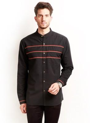 Change 360 Men's Striped Casual Black Shirt