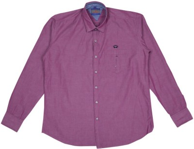 Esoft Men's Solid Casual Pink Shirt