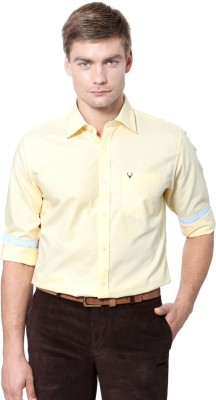 Allen Solly Men's Solid Casual Yellow Shirt