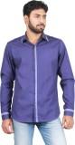 Qdesigns Men's Solid Casual Blue Shirt