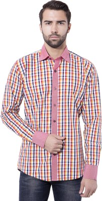 Tag & Trend Men's Checkered Casual Red Shirt