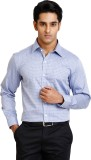 Zenrio Men's Checkered Formal Blue Shirt