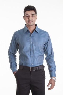 Sting Men,s Checkered Formal Light Blue Shirt