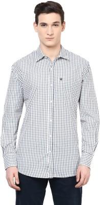 Urbano Fashion Men's Checkered Casual White, Blue Shirt