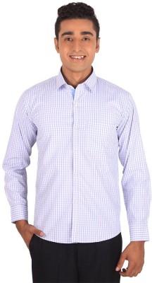 Henry Spark Men's Checkered Formal White Shirt