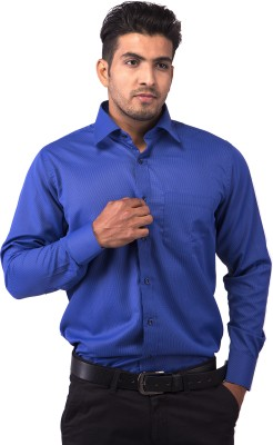 Indian Weller Men's Solid Formal Blue Shirt
