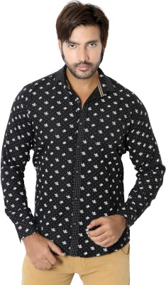 RED TOUCH Men's Printed Casual Black Shirt