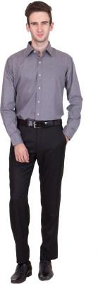 Coffee Bean Men,s Solid Formal Grey Shirt