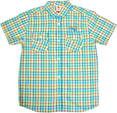 Sunbright Boy's Printed Casual Green Shirt