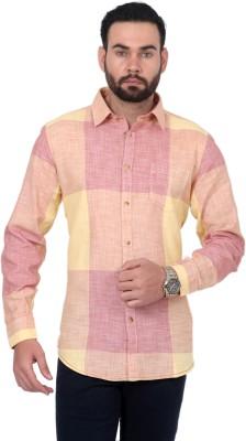 Urban Republic Men's Checkered Casual Yellow, Red Shirt